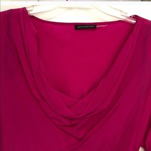 Long Sleeve Hot Pink Blouse